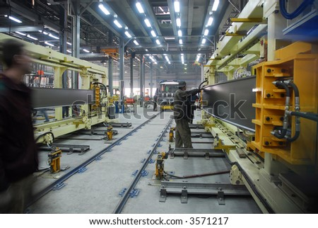 Big factory with a lot of machine tools. 12