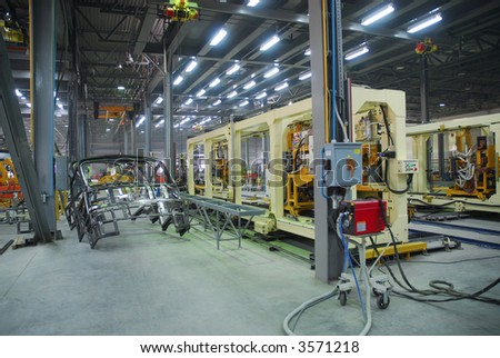 Big factory with a lot of machine tools. 15