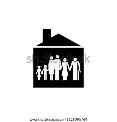 big family in house icon. Element of travel icon for mobile concept and web apps. Thin line big family in house icon can be used for web and mobile. Premium icon on white background