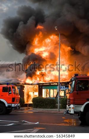 Big fire in Wroclaw, Poland 2008