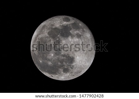 Big Full moon with contrasty texture #1477902428