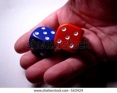 Big gamble symbolized by big dice #563424