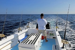 Big game or deep sea fishing in Costa Rica, Central America