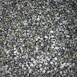 Big gravel rocks on the floor