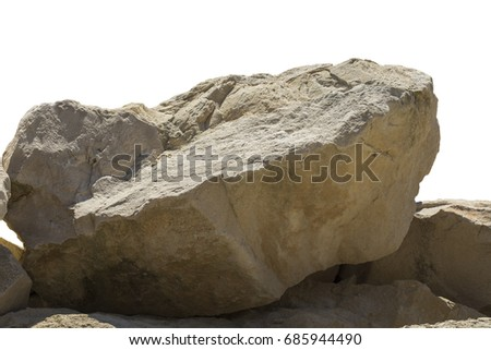 Big heavy boulder isolated