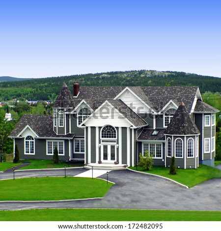 Big house in rural newfoundland stock photo 172482095 for Newfoundland houses