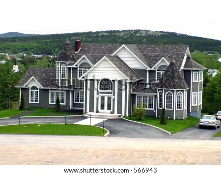 Big house in Rural Newfoundland - stock photo