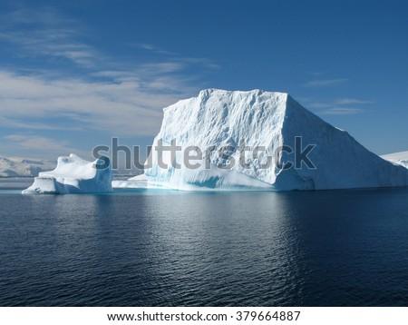 Big ice berg in Antarctica, south pole