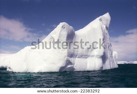 Big iceberg in Antarctica bay