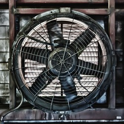 Big industrial fan in a factory