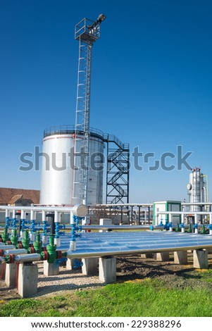 Big industrial oil tanks #229388296