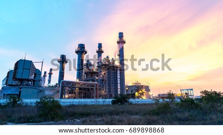 Big Industrial oil tanks in a refinery with treatment pond at industrial plants #689898868