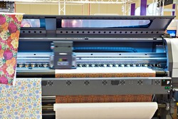 Big industrial sublimation printer for direct printing on fabrics