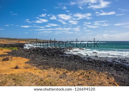 Big Island - rocky Hawaiian coastline
