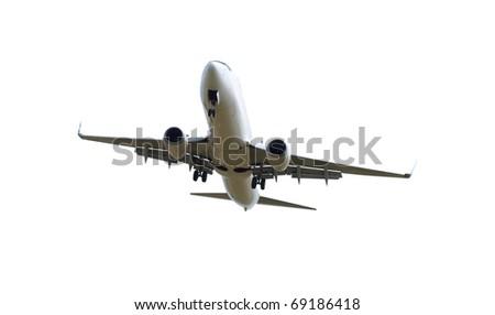 Big jet plane isolated on white background