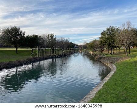 BIG LAKE PARK in Plano, Texas Foto stock ©