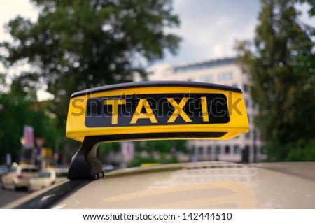 Big Line of  Taxis in Berlin City