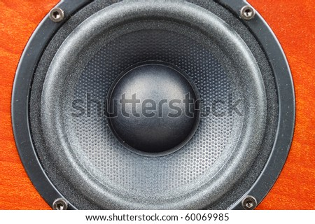 Big loud box with the powerful round speaker