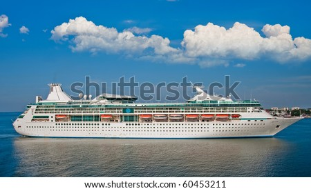Big luxury cruise ship