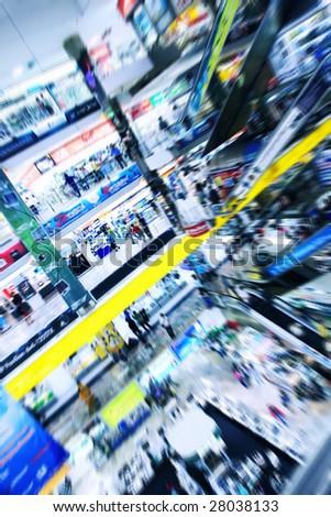 Big mall in Bangkok - stock photo