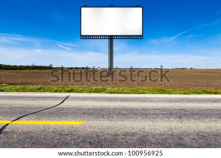 Big Metal Advertising Billboard Sign