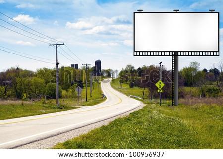 Big Metal Advertising Billboard Sign - stock photo