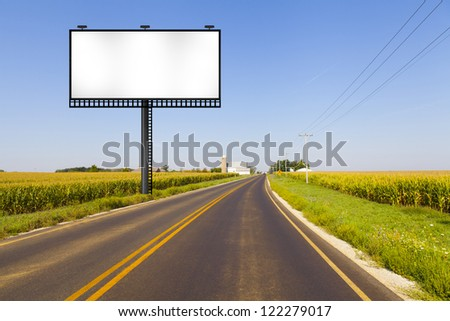 Big Metal Advertising Billboard Sign - stock photo