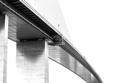 Big metal suspension bridge