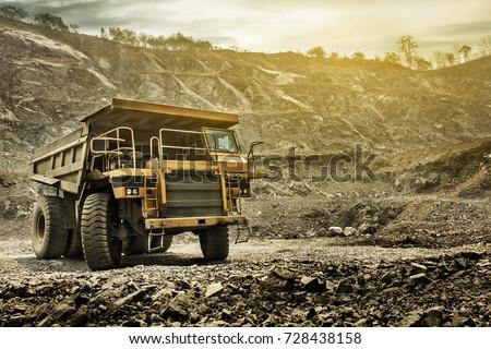Big mining dumping truck