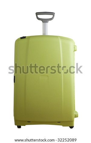 Big modern suitcase isolated on white with clipping path