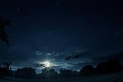 big moon on a dark background