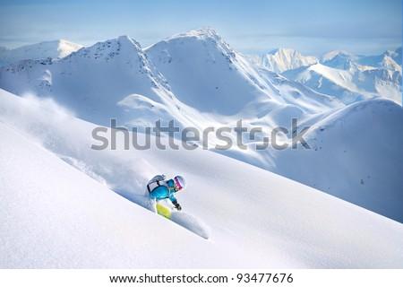 Big Mountain Skiing Foto stock ©