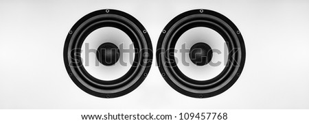 Big Music Speaker on a gray background