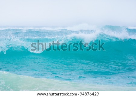 Big ocean waves