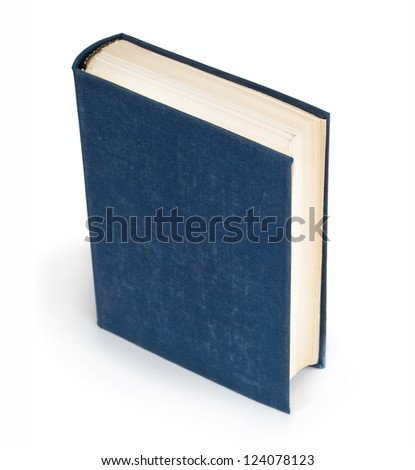 Big old book in  leather cover on a white background
