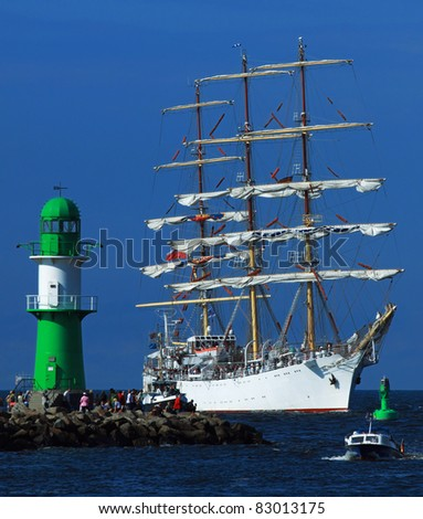 Big old Sailing Ship in Warnemünde (Mecklenburg-Vorpommern, Germany) 02