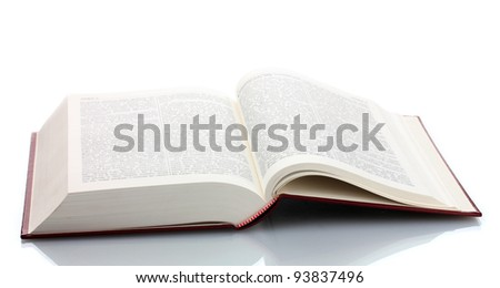 Big open book isolated on white