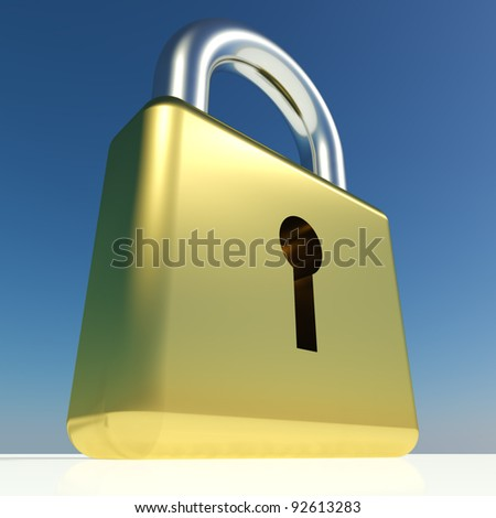 Big Padlock Showing Security Protection Or Safety