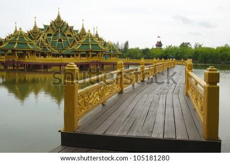 Big pavilion on water