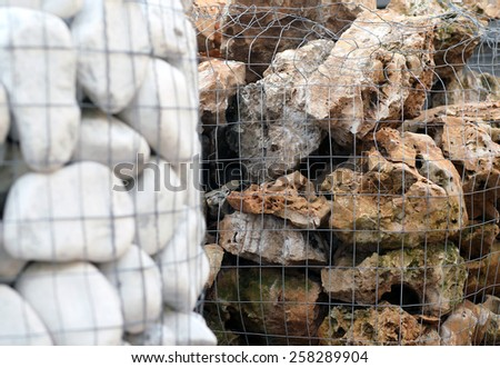 big pebbles and stones for sale in building material store