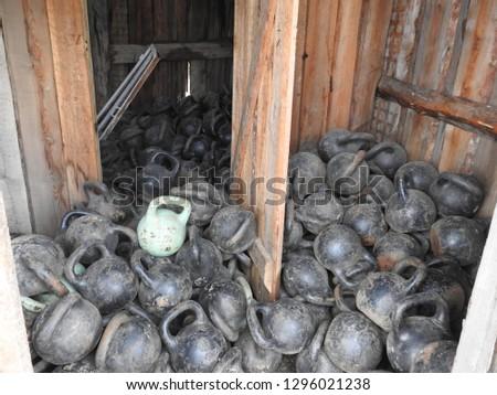 Big pile of dumb-bells