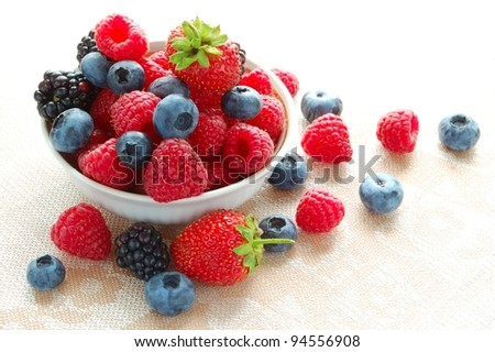 Big Pile of Fresh Berries