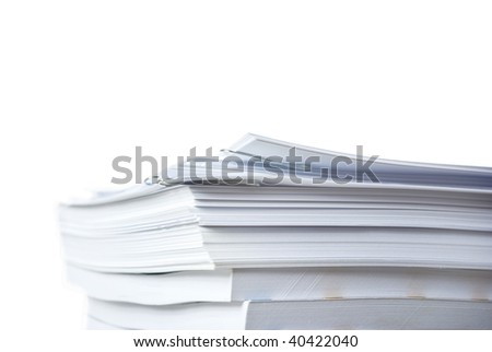 big pile of paper documents