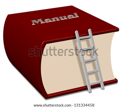 Big red book with a title spelling manual / Manual book