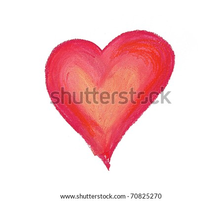 big red heart illustration isolated on a white