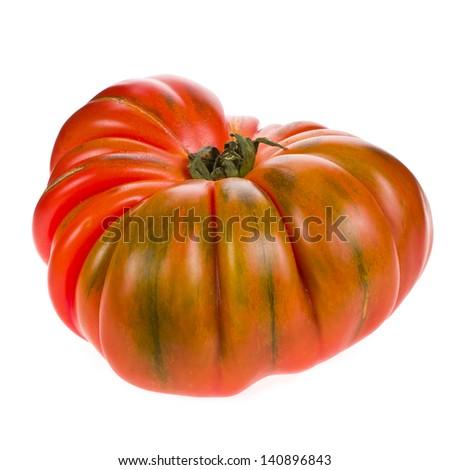 big red tomato RAF close-up isolated on white background Zdjęcia stock ©