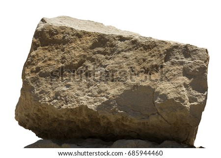 Big rock, boulder isolated