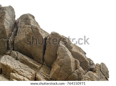 Big rock, isolated on the white background
