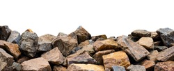 Big rock isolated on white. This has clipping path.