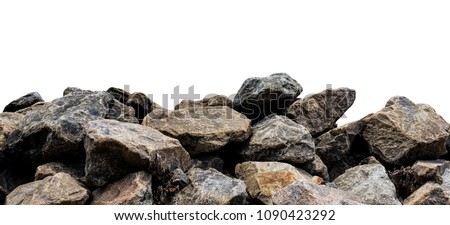 Big rock isolated on white. This has clipping path. #1090423292